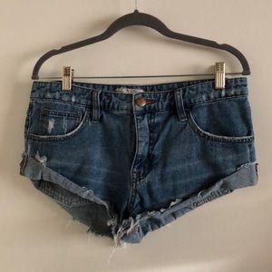 Free People Denim Cutoff Shorts size 27